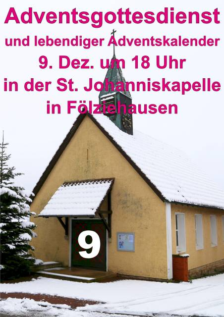 Adventsgottesdienst zum 2. Advent in Fölziehausen